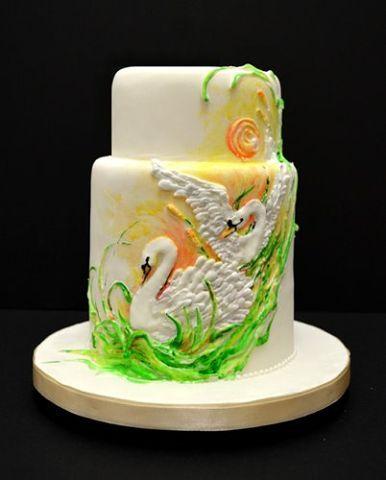 Weiße Hochzeit, Backen, Geburtstag, Königlicher Zuckerguss Kuchen, Fondant  Torten, Schöne