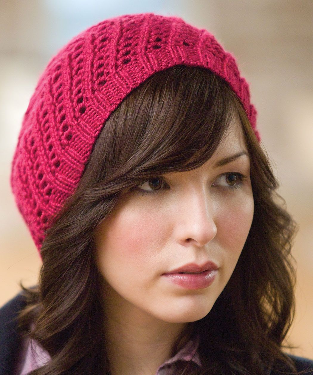 All Day Beret - this is a knitting pattern and I love the look of it ...