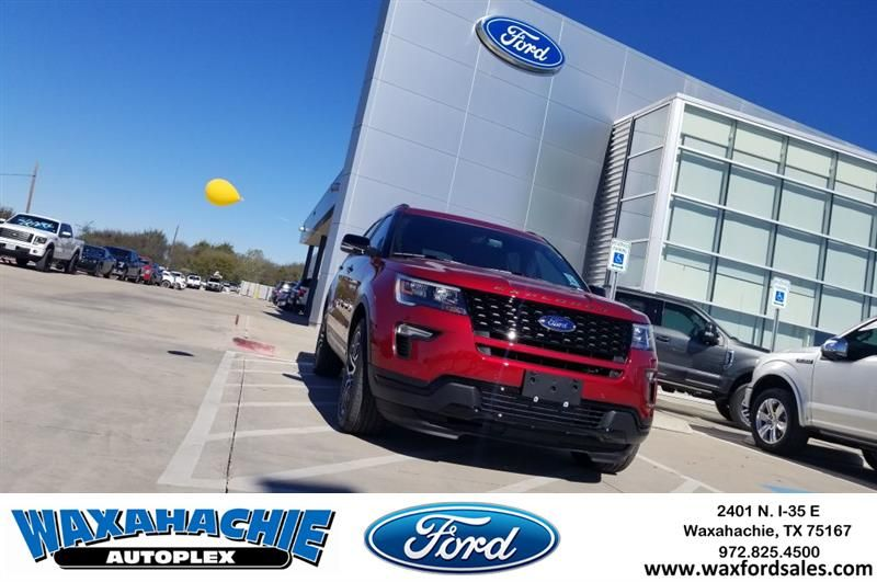2019 Ford Explorer Sport Red dallas ellis waxahachie