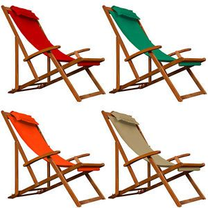 Gartenliege Rot Liegestuhl Holz Campingliege Strandliege Sonnenliege Liege