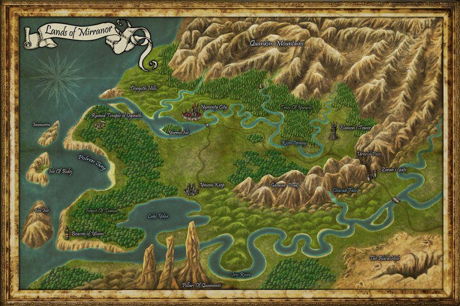 Mirranor fantasy map by djekspek on deviantart maps pinterest dungeon maps gumiabroncs Images