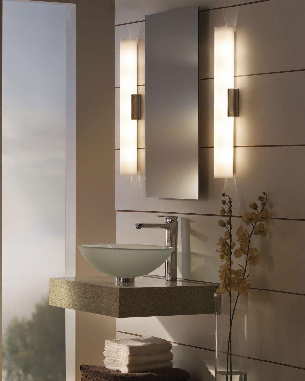 Contemporary Bathroom Wall Light With Bathroom Vanity Light Box  Bathroom  Sconce Height Kraisee com. Bathroom Mirror Light Height