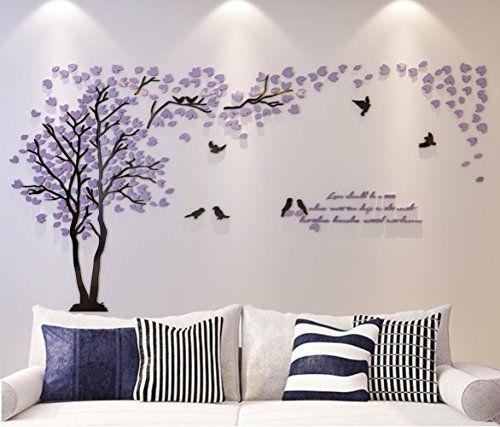 Diy Wall Murals 3d couple tree wall murals for living room bedroom sofa backdrop