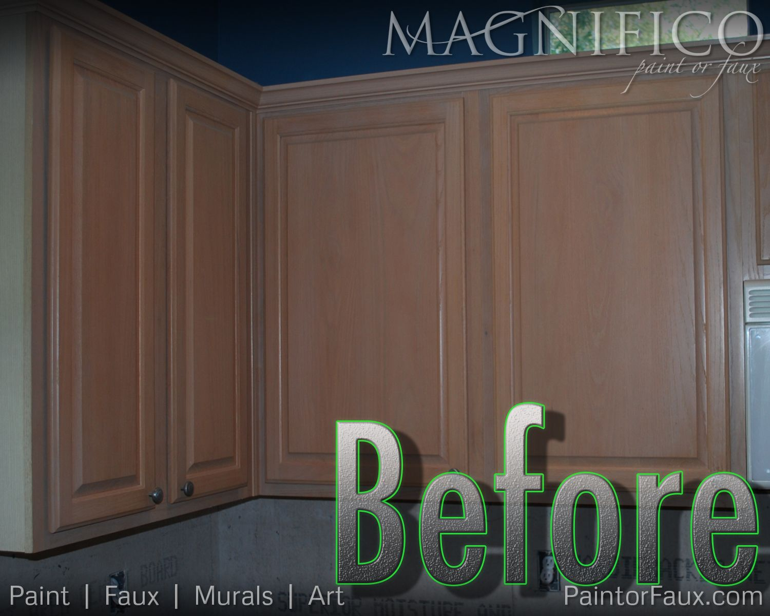 Builder Grade Oak Cabinets With Pickled Oak Stain Before Cabinet Refinishing Yuck Kitchen Cabinets Cabinet Refinishing Cabinets