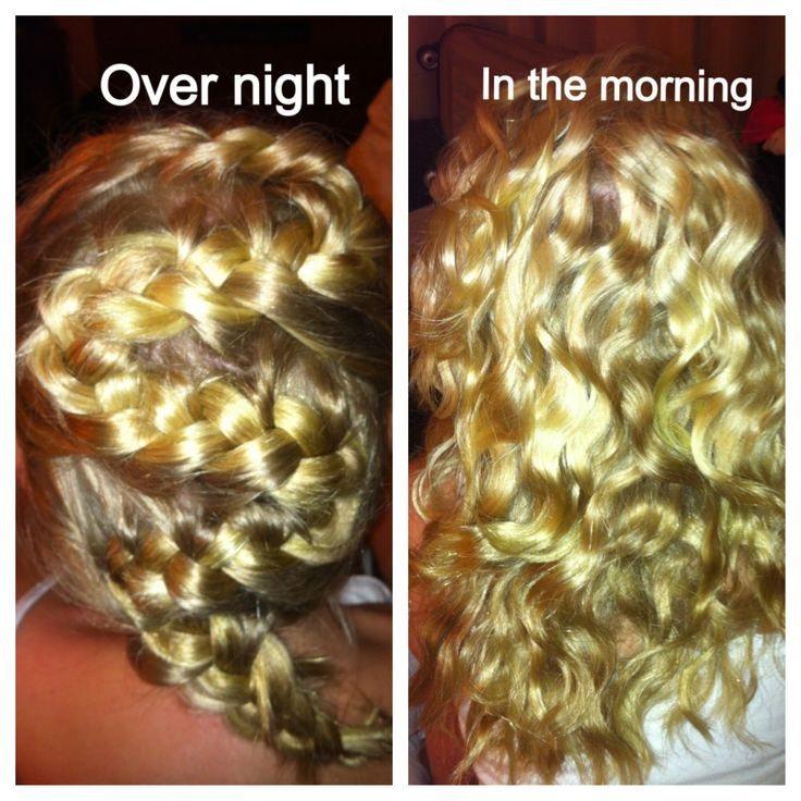 No Heat Beach Waves Overnight With Just One Braid Hair Hair Styles Curly Hair Overnight Overnight Curls