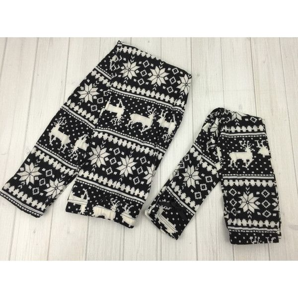 Mommy and Me Reindeer Leggings Snowflake Leggings Fairisle ...