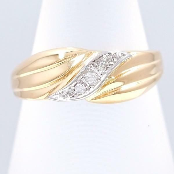 0f1db1a27f554 eBay  Sponsored Jewelry Platinum 900 18K Yellow gold Ring 9 size Diamond  Free shipping Used
