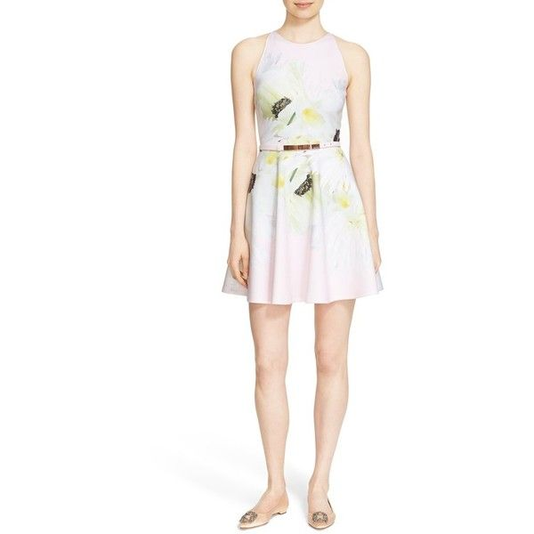 a48a0708257f9 Women s Ted Baker London  Tuliaa  Belted Floral Print Neoprene Skater... (
