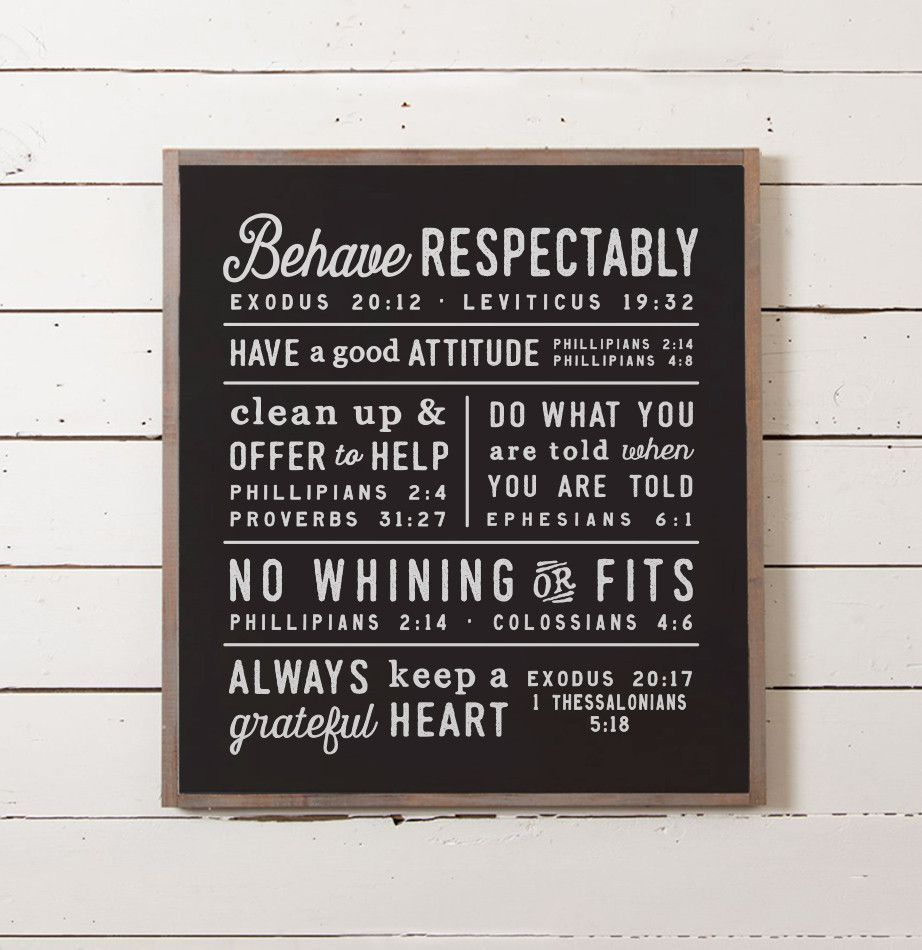 This Wall Sign Features A Set Of Rules That Ellie And Her