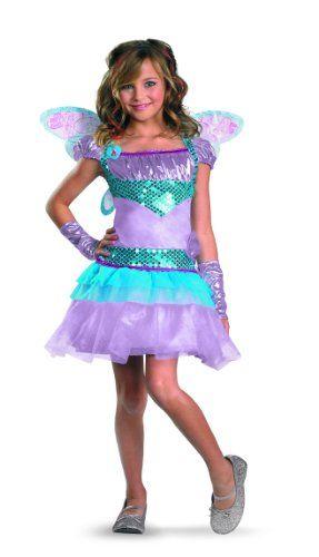 100% autentico stili classici il più grande sconto Winx Club Bloom Deluxe Costume, Purple/Blue, Medium/7-8 ...