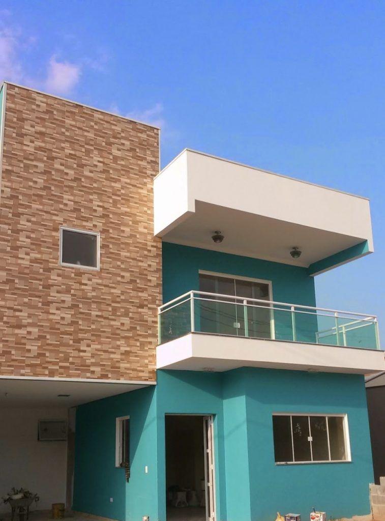 Cores De Casa Com Fachada Azul Turquesa Com Imagens Casas