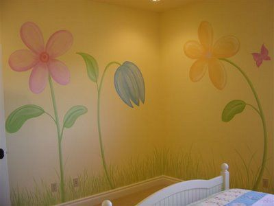 Simple & Inexpensive Nursery Mural Ideas : Nursery Murals and More ...