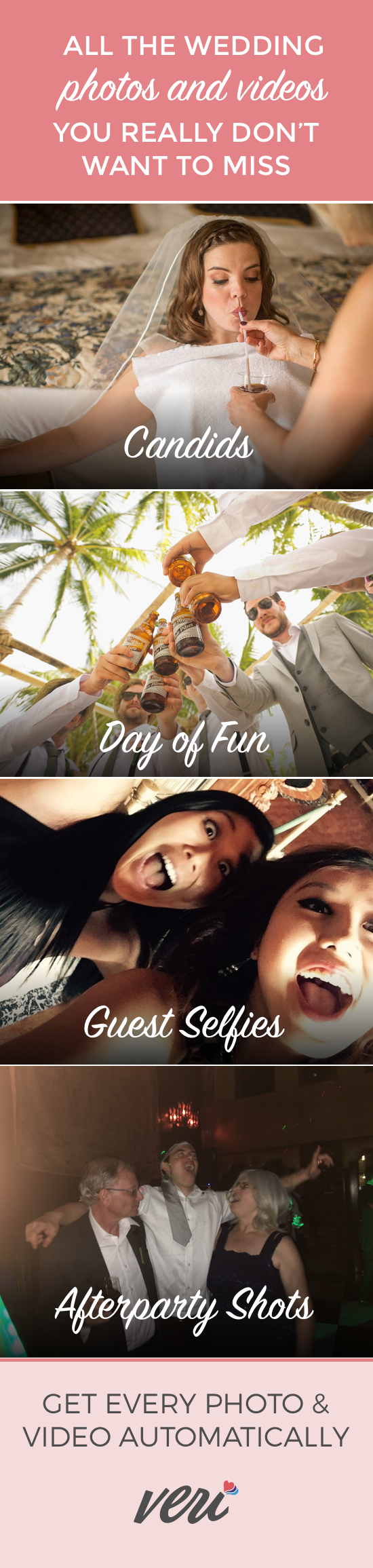 Guests use their normal phone cameras to snap photos and