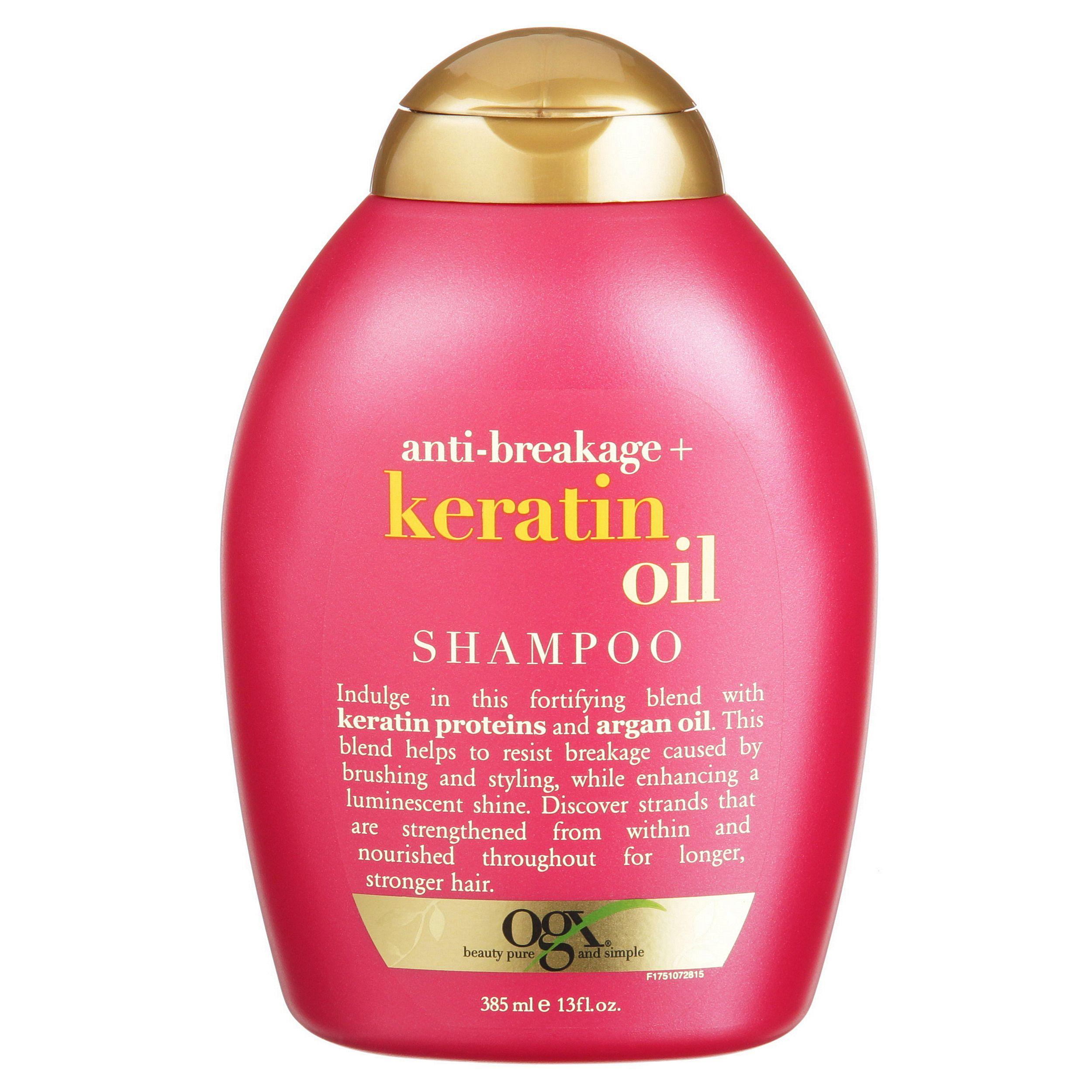 Ogx Anti Breakage Keratin Oil Fortifying Anti Frizz Shampoo For Damaged Hair Split Ends With Keratin Proteins Argan Oil Paraben Free Sulfate Free Surfa Keratin Oil Ogx Shampoo Anti Frizz Shampoo