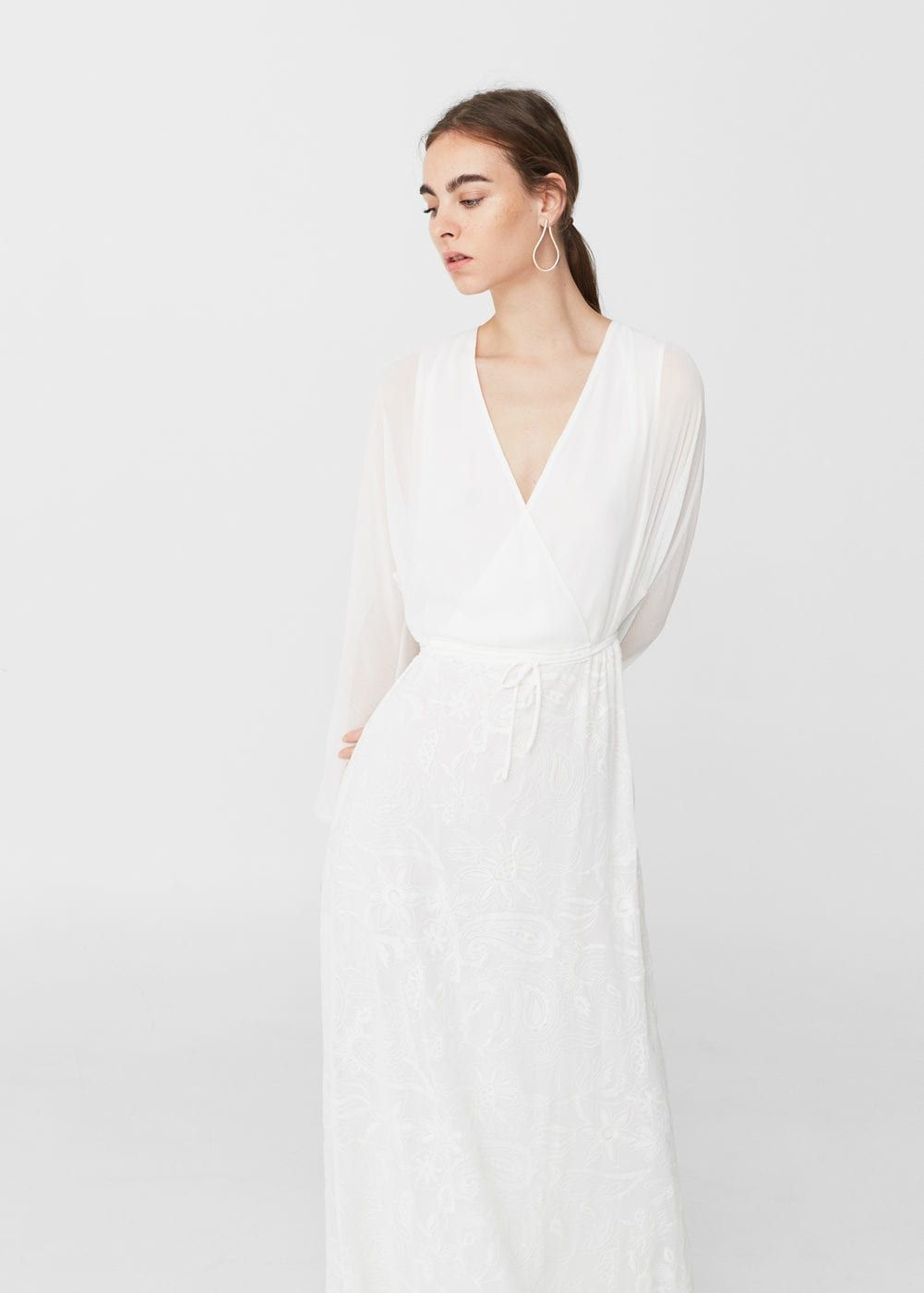 Embroidered long dress - Women  Mango United Kingdom  Women long