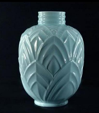 large art deco art nouveau styled vase boch freres hva art deco porselein aardewerk. Black Bedroom Furniture Sets. Home Design Ideas