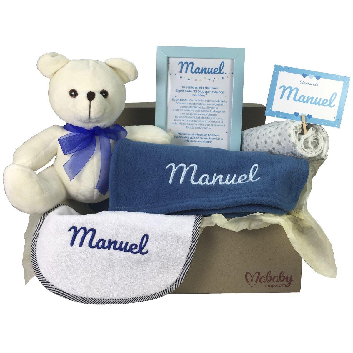 Regalo original Recien Nacido MabyBox My Jeans Regalos beb/é Cesta de Bebe Personalizada Azul Canastilla de Bebe