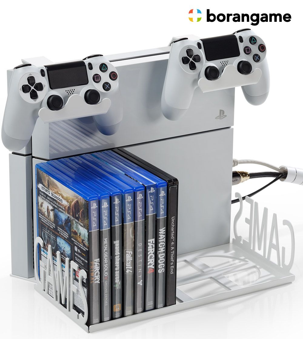 Check Out This Gamespiderswap Ps4 And Slim Wall Mount Desk Organizer Create For Your Passion Game Video Game Rooms Wall Mounted Desk Video Game Room Decor