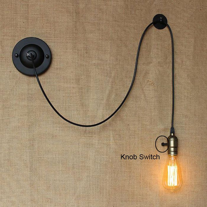 Comodino lampada da lettura studiare fai da te art decor - Applique da parete fai da te ...