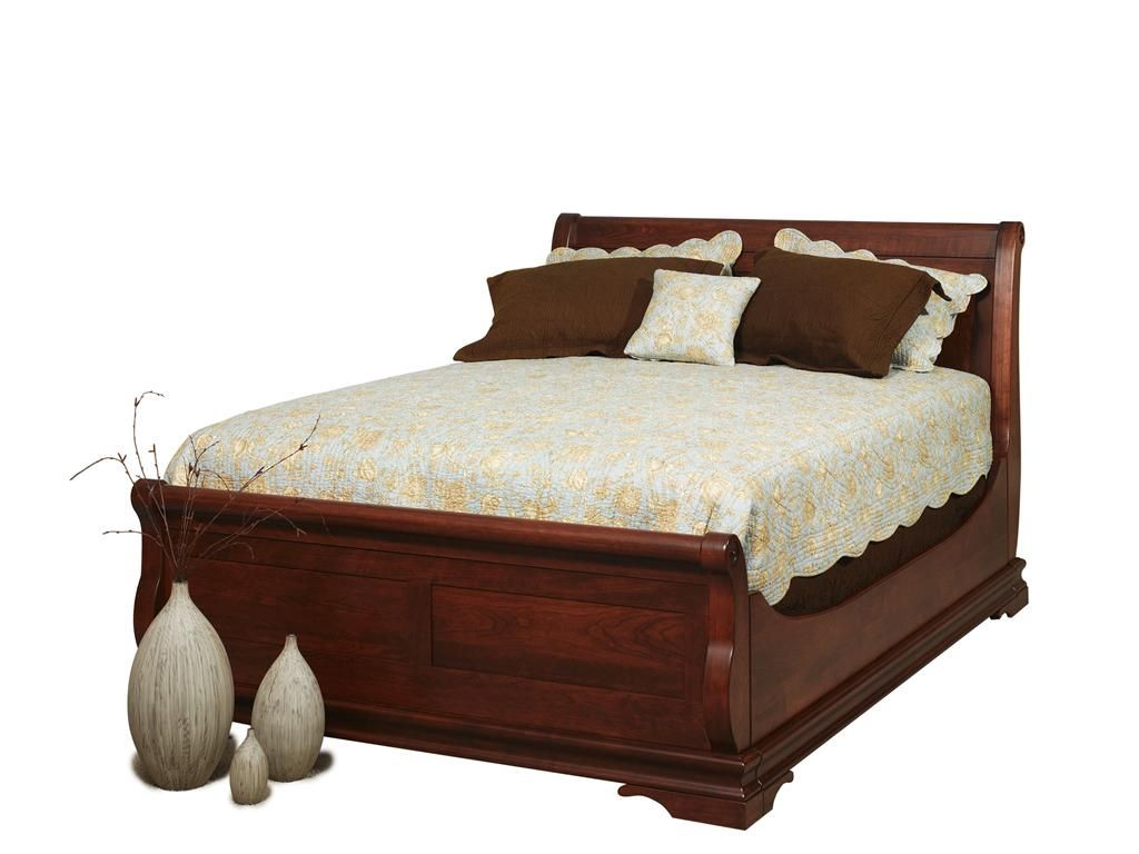 queen sleighbed with trundle lifestyles bedroom. Black Bedroom Furniture Sets. Home Design Ideas