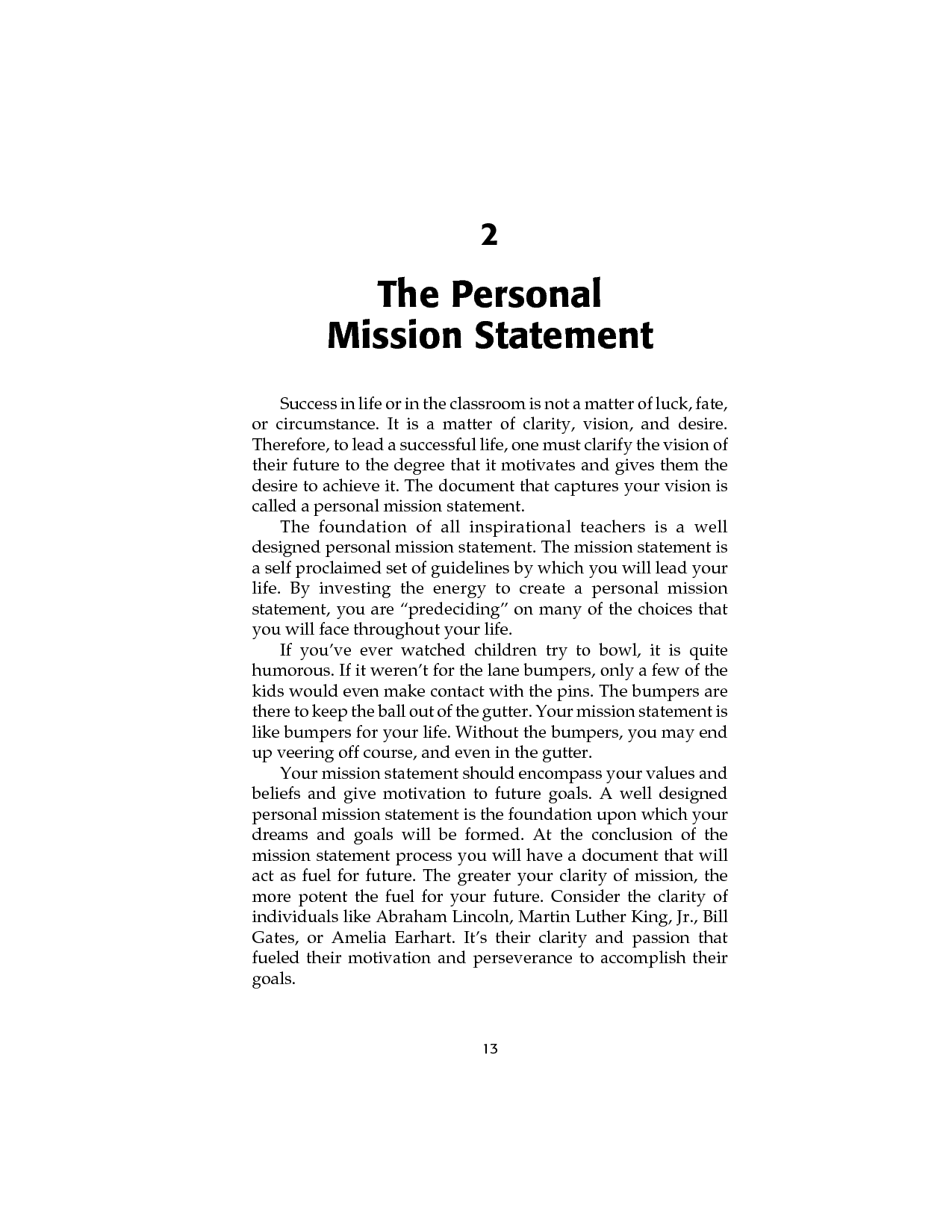 personal vision statements