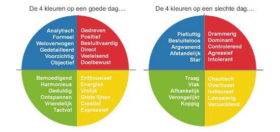 kwaliteiten en valkuilen van de 4 voorkeurstijlen  model