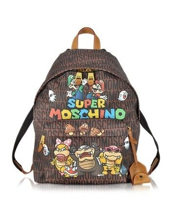 SUPER MARIO MULTICOLOR PRINTED BACKPACK MOSCHINO
