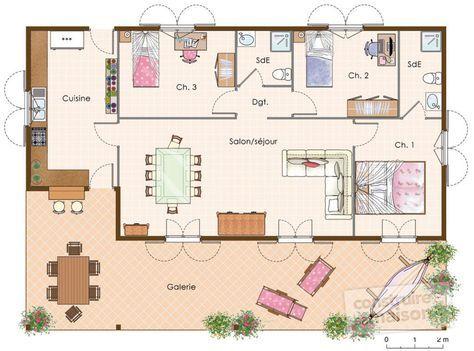Maison créole - faire son plan de maison en 3d