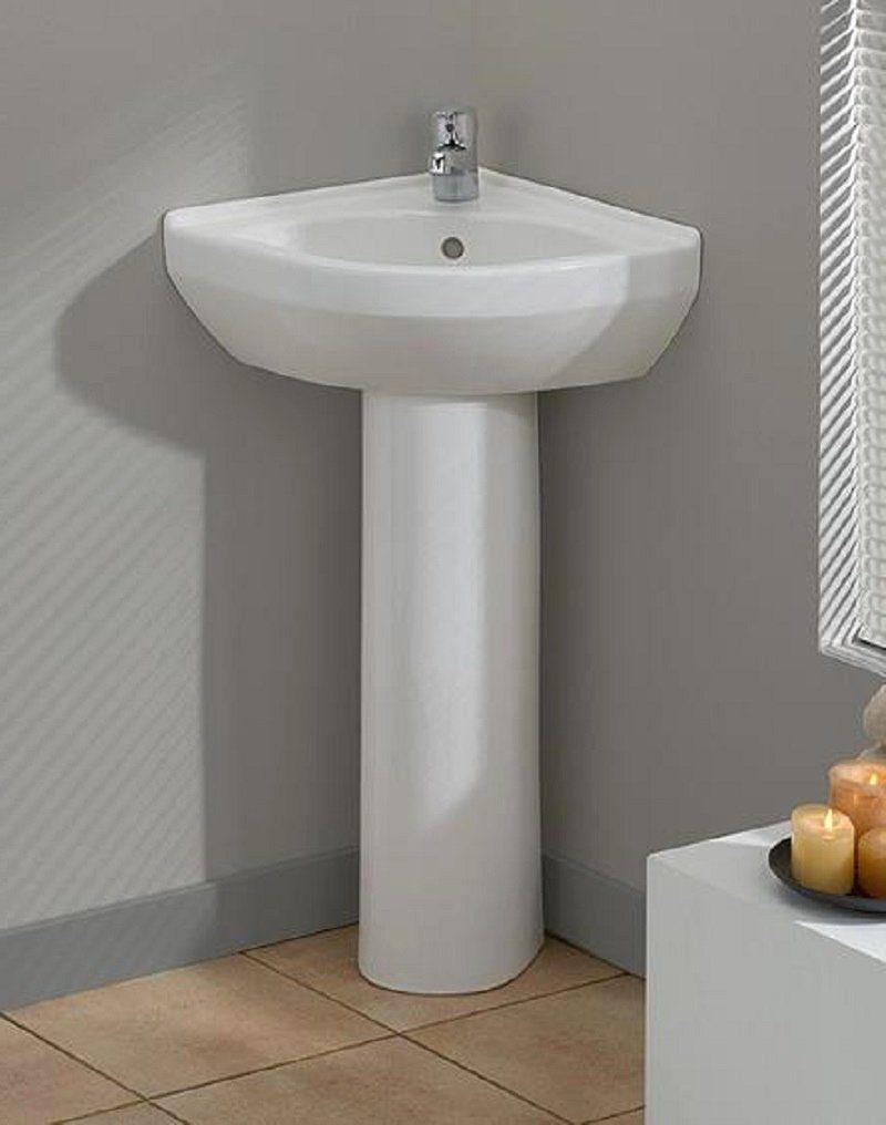 Kohler Small Bathroom Sinks Best Of Bathroom Pedestal Sink Look Stylish In Small Space Fice In 2020 Corner Pedestal Sink Corner Sink Bathroom Corner Sink