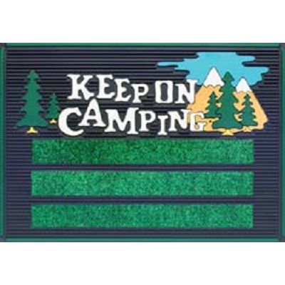 RV Patio Mat Keep On Camping. Fun Welcome Mats To Add A Little Color To