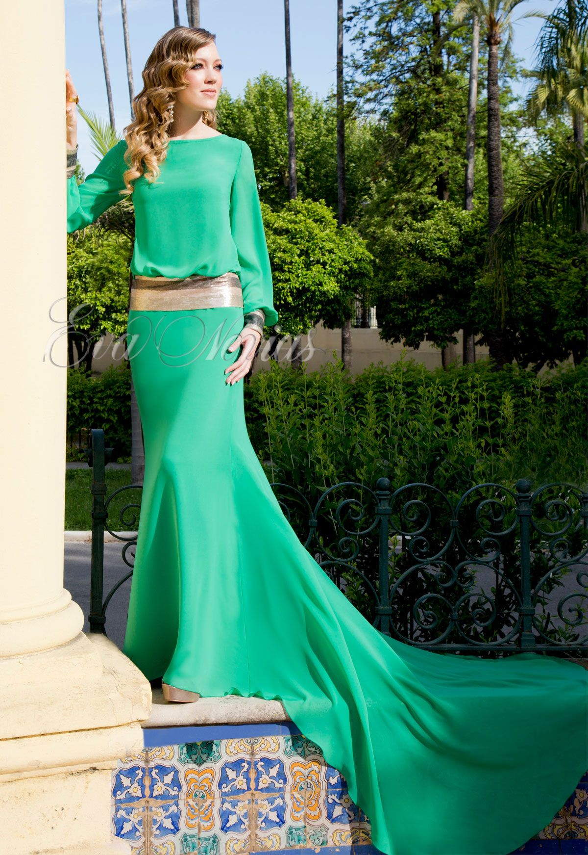 Vestido de fiesta Ana torres colección 2016 modelo 16036A en Eva ...