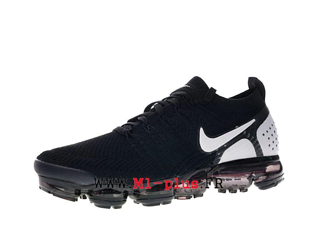 a64ba8728f2f1 Nike Air Vapormax Flyknit 2.0 Chaussures 2018 Pas Cher Pour Homme Noir  Blanc 942842-010
