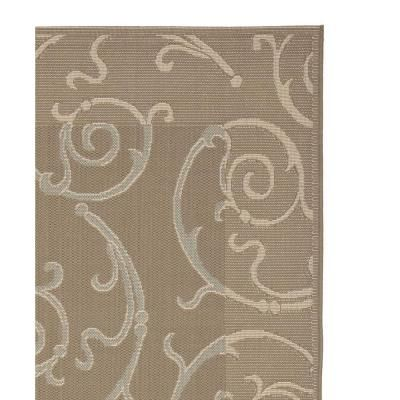 Safavieh Courtyard Dark Beige/Beige 4 ft. x 5 ft. 7 in. Area Rug-CY7108-97A18-4 - The Home Depot