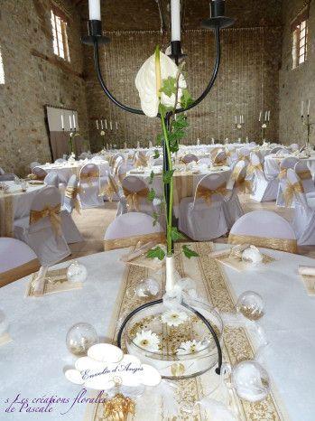 chandelier centre de table mariage d co pinterest table mariage table et deco table. Black Bedroom Furniture Sets. Home Design Ideas