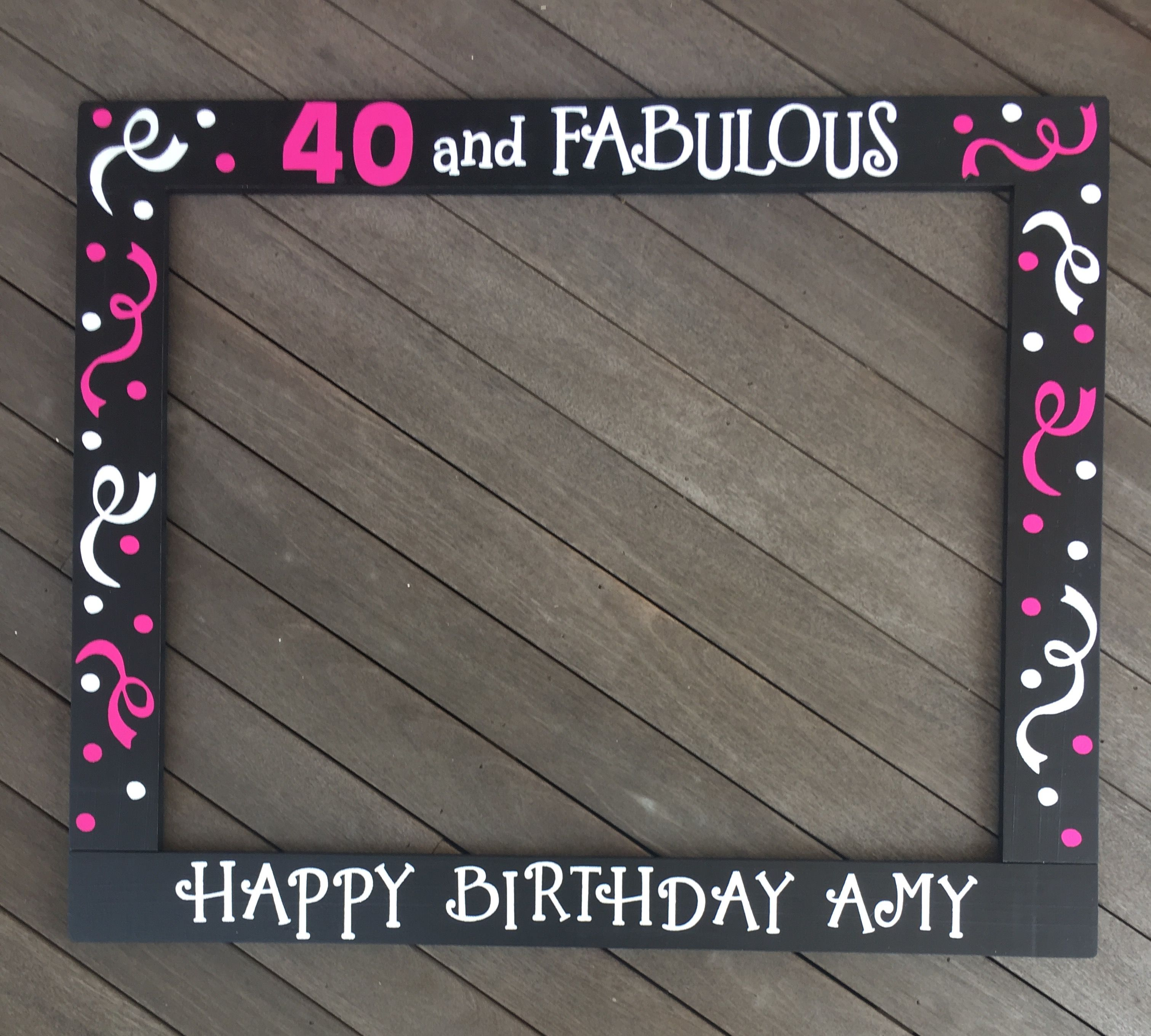 30th Photo Booth Frame 40th Birthday Party Prop 50th Birthday