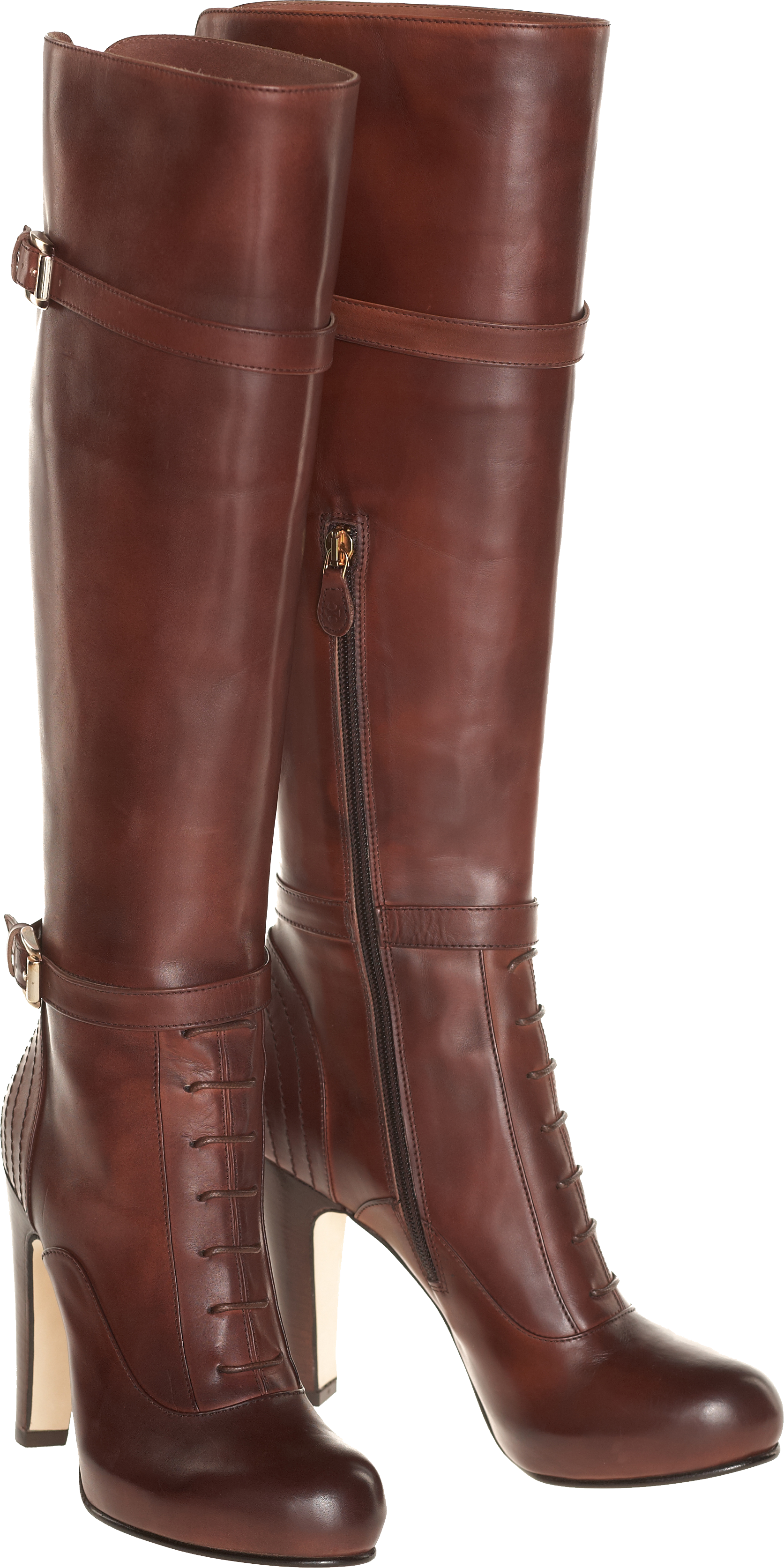 Women S Boot Made Of Genuine Chocolate Leather Png Image Boots Bootie Boots Shoes