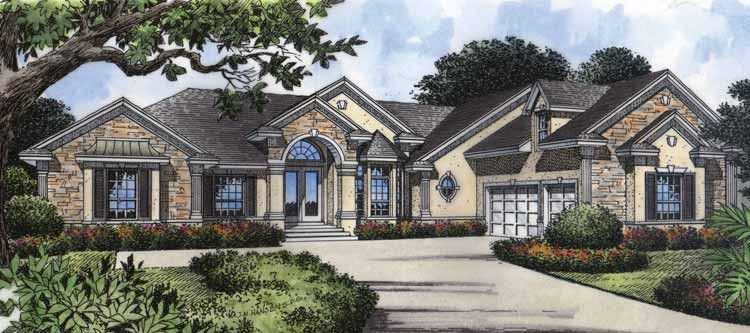 New American House Plan With 2755 Square Feet And 4 Bedrooms S From Dream Home Source Mediterranean Style House Plans Contemporary House Plans New House Plans