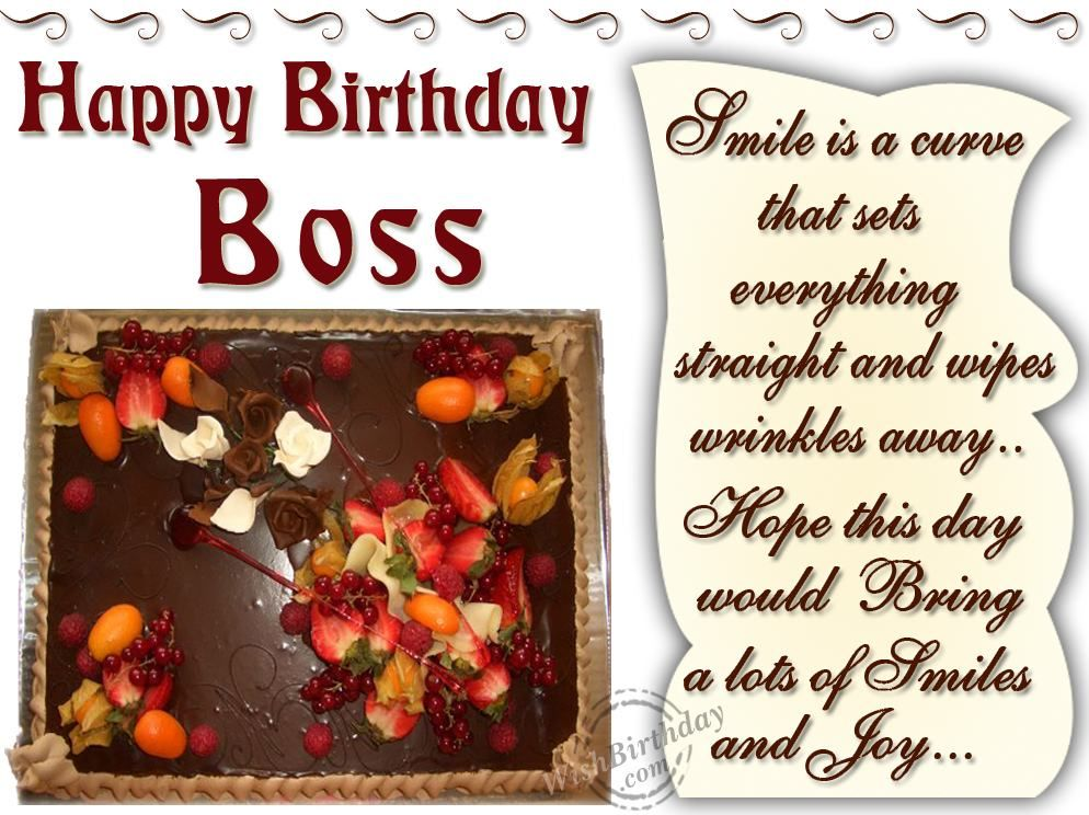 Happy Birthday wishes For Boss smile is a curve that sets – Happy Birthday Cards for Boss