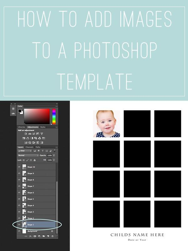 How to Add Images to a Photoshop Template | Pinterest