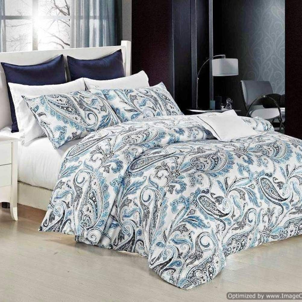 Blue and green paisley bedding - Teal Paisley Bed Covers Daniadown Sicily Paisley Duvet Cover Set