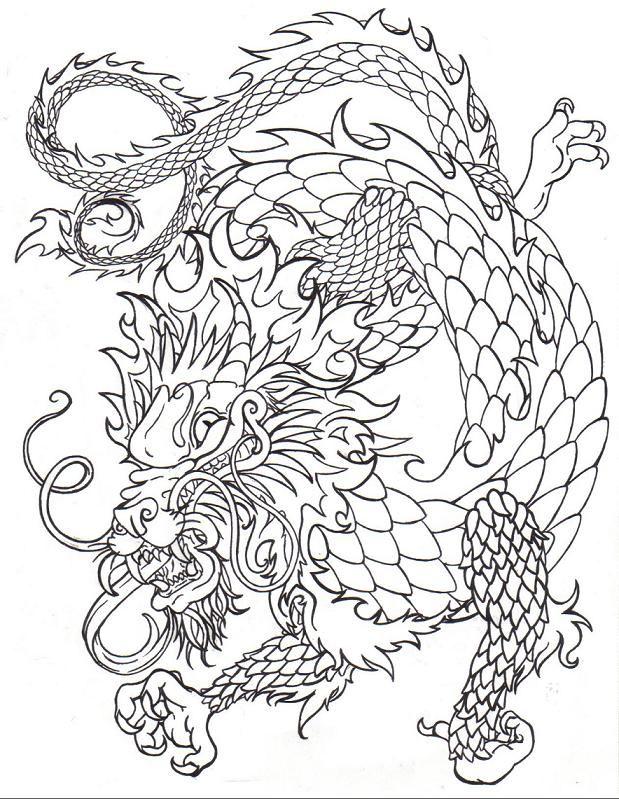 Chinese dragon line by death-of-a-salesman Dragon Fantasy Myth ...