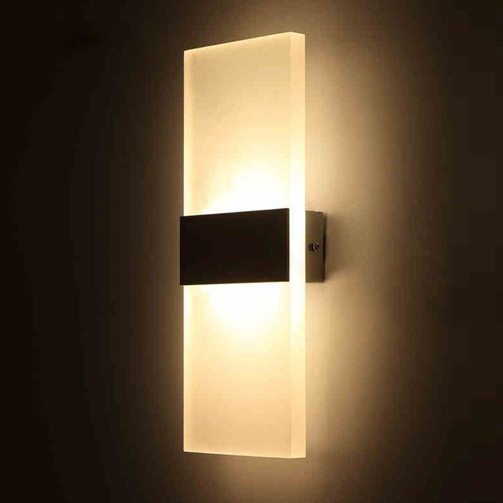 Outreo 6W LED Wall Sconces Light Fixture Acrylic Decorative Lamp for ...