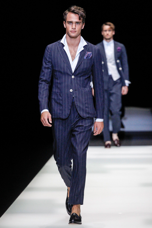 Giorgio Armani Spring 2018 Menswear Fashion Show in 2019 ...