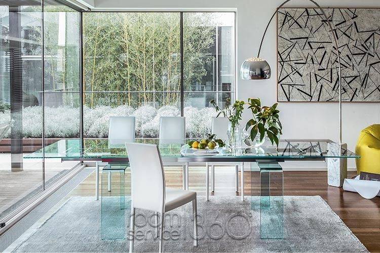 Temple Modern Glass Extension Dining Table By Tonin Casa Modern