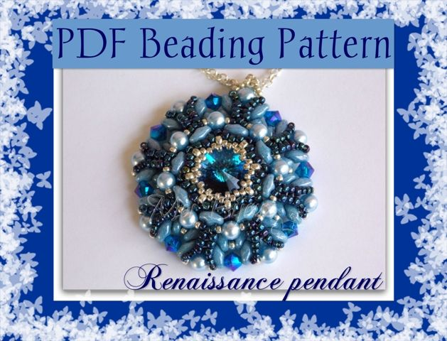 The beading pattern is available in english and italian version in my ETSY shop:  https://www.etsy.com/it/listing/159054246/schema-perline-ciondolo-renaissance-con?ref=listing-shop-header-0