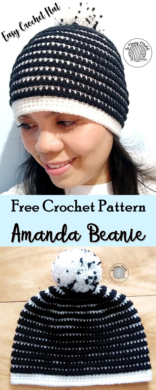 Amanda Beanie   Crochet   Pinterest   Tricot, Crochet et Chapeau 15496bb6d8a