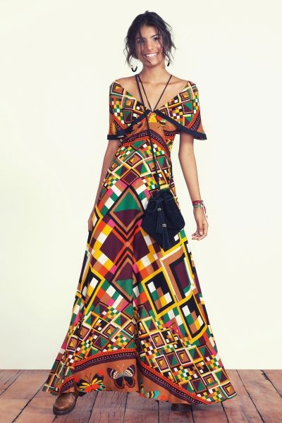 fe289faae vestido longo borbográfica | Roupas | Vestidos, Vestidos longos farm ...