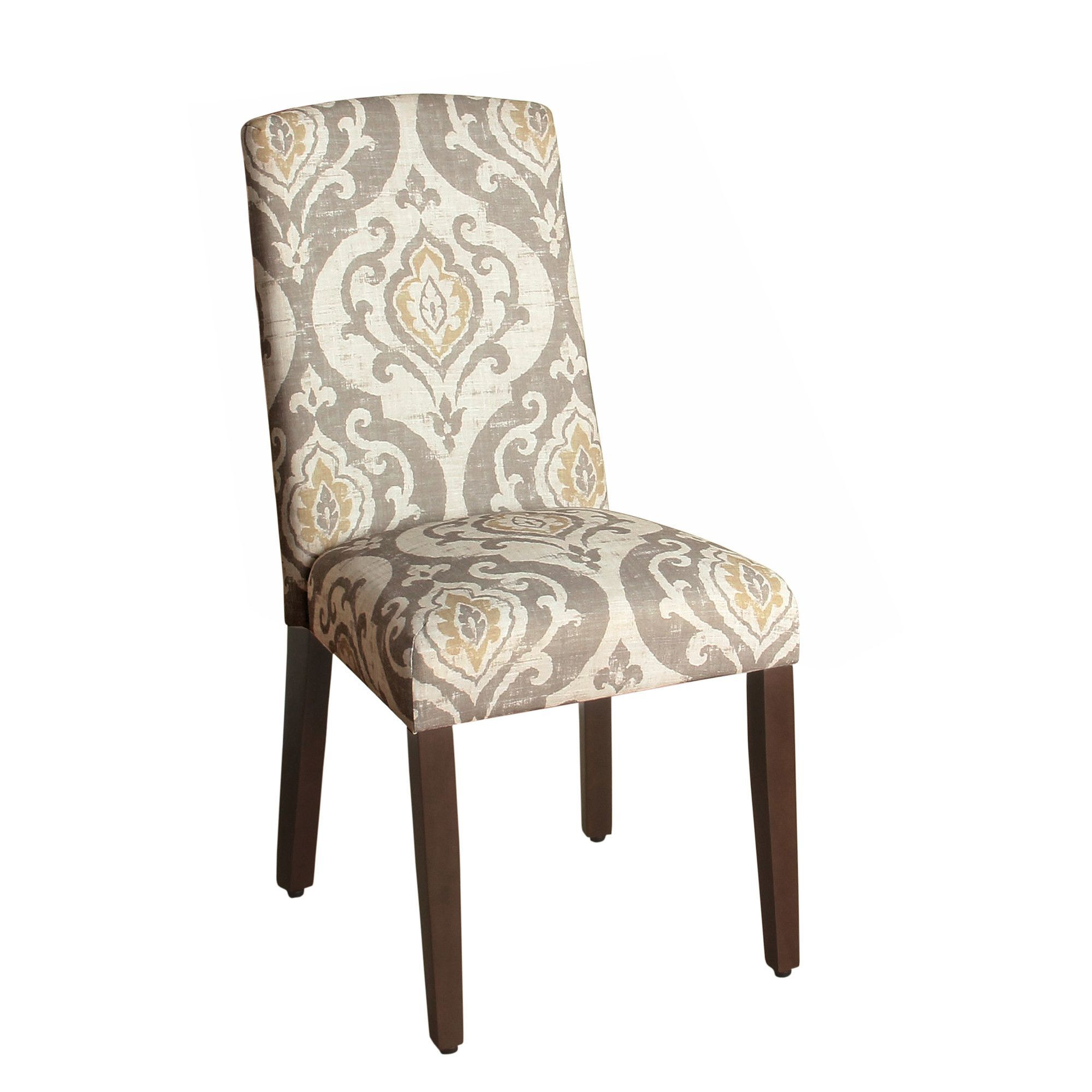 Features Set Of 2 Parsons Dining Chair Solid Wood Legs