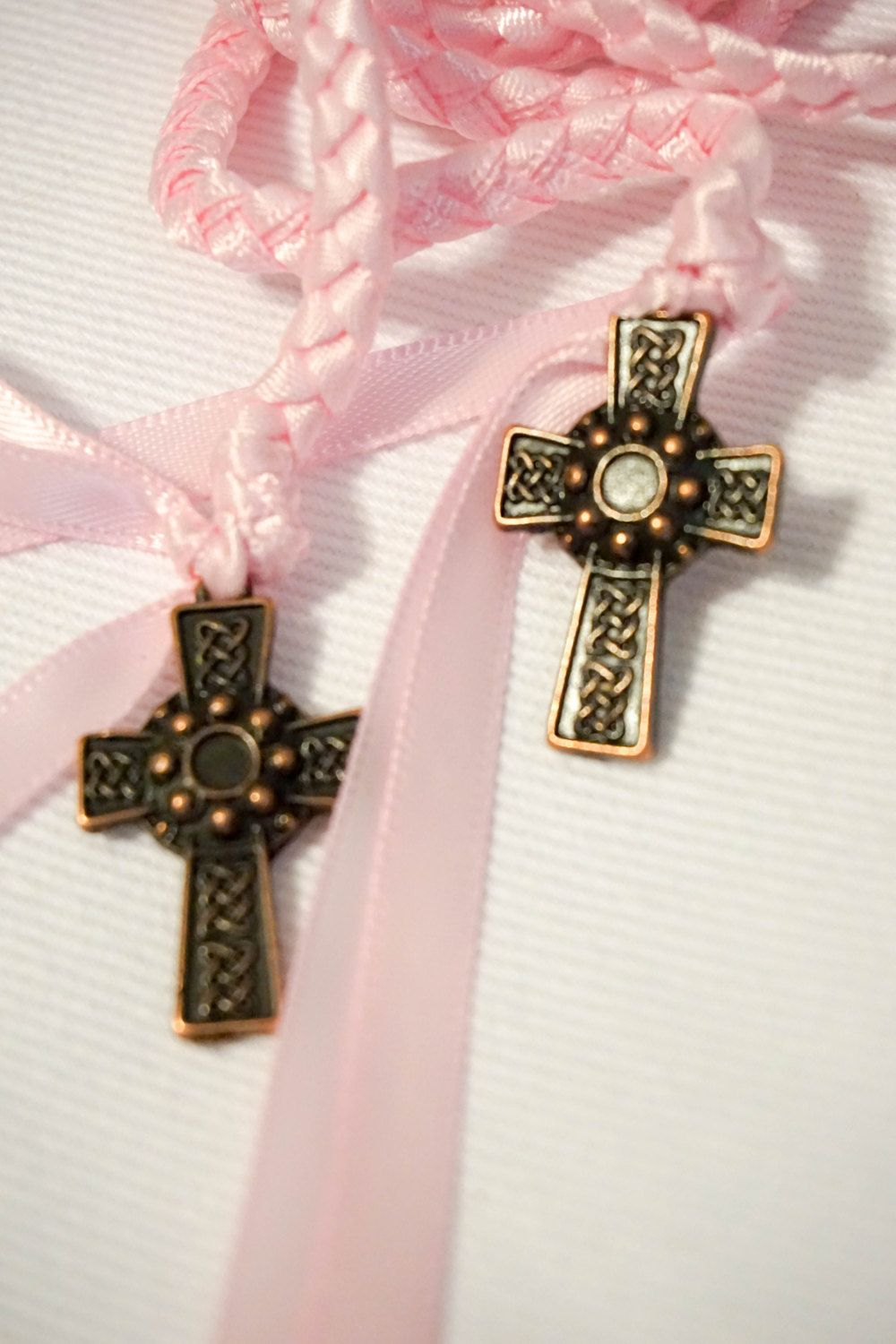 Celtic Copper Cross Wedding Hand Fasting/ Binding Cord ~ Soft Pink ...