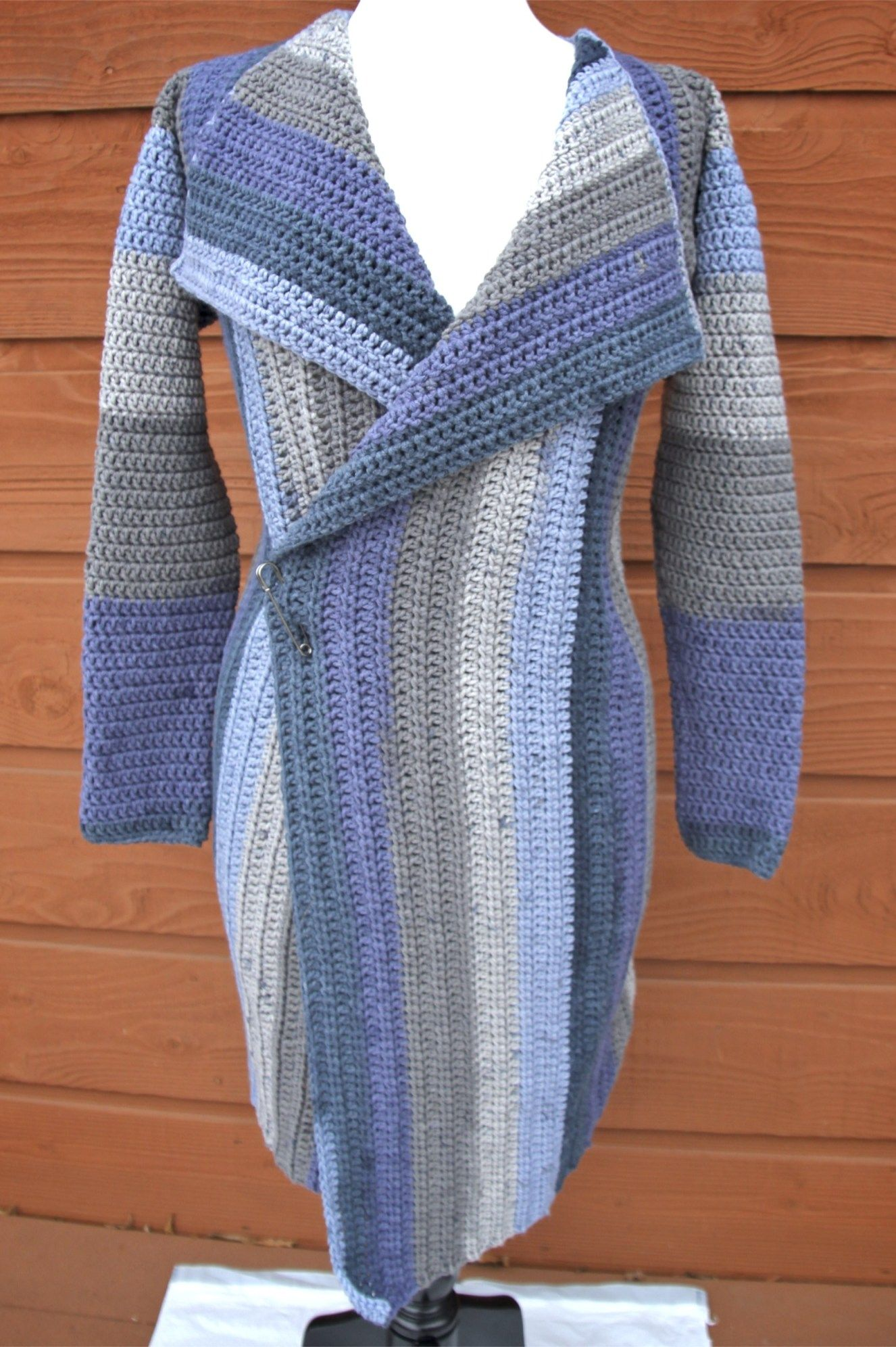 Cozy Fireside Cardigan Crochet Pattern featuring Caron Big Cakes ...